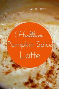 Fall is  here! So is pumpkin flavored everything! Here is a healthier version of a pumpkin spice latte without all the sugar.