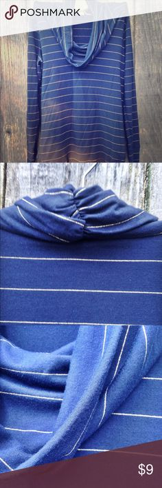 Striped cowl neck top Light and stretchy material. Great for layering. Great condition. Banana Republic Tops