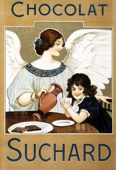 vintage ads: Swiss Chocolat Suchard ads, 1890s-1920s