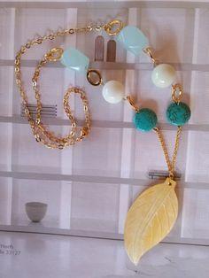 Elegant Turquoise Necklace.Gemstone Necklace. by GraceLillyDesigns