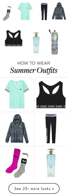"""VS PINK Gym Outfit"" by grace-lily1 on Polyvore featuring Victoria's Secret"
