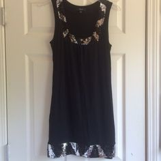Black W/ Sequins Express Mini Great sequins details, soft lightweight fabric Express Dresses Mini
