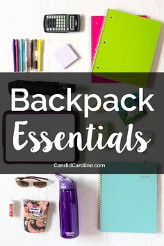 These are my 15 backpack essentials. From school supplies to snacks, these are the things I never go to class without!