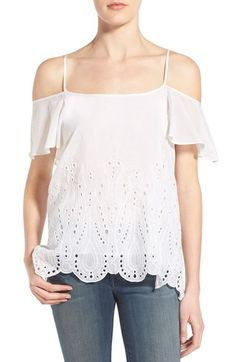 Chelsea28 Broderie Anglaise Cold Shoulder Top