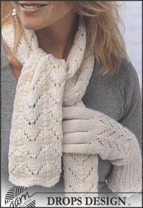 Free knitting patterns and crochet patterns by DROPS Design Knitting Stitches, Knitting Patterns Free, Free Knitting, Drops Design, Knitted Gloves, Knitted Shawls, Alpaca Scarf, Mittens Pattern, Alpacas