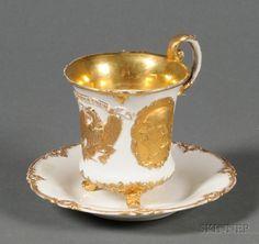Dresden Parcel Gilt Porcelain American Centennial late 19th century