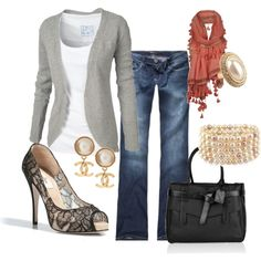 Chanel Casual, created by missredheadgirl cute-outfits-jelwery-and-shoes