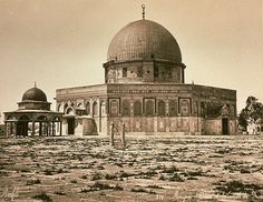 "Dome of the Rock 1875 (Where are all the ""Palestinians"" in their so-called displaced and occupied holiest site?). The Dome of the Rock was originally a Jewish synagogue, and later, a Christian cathedral but was conquered and occupied by Muslims who converted it to a mosque. The entire region was bathing in blood from the Muslim conquest."