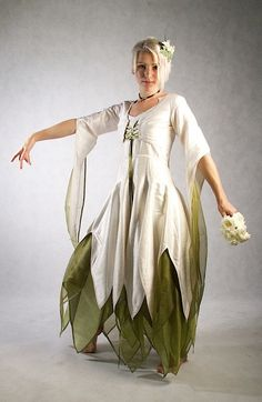 Green and Ivory Elemental Fae - Full outfit - Made to order | ZizzyfayBridal at Etsy