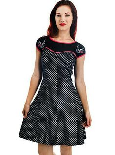 fd3e172cc3c Swift Swallows Polka Dot Sweetheart Dress Indie Outfits