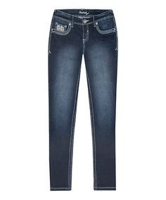 Look what I found on #zulily! Ricki Lace-Trim Skinny Jeans - Plus #zulilyfinds