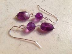 Amethyst Earrings  Purple Jewelry  Gemstone Jewellery  by cdjali