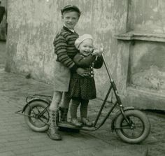+~+~ Antique Photograph ~+~+   Happy times with big brother.