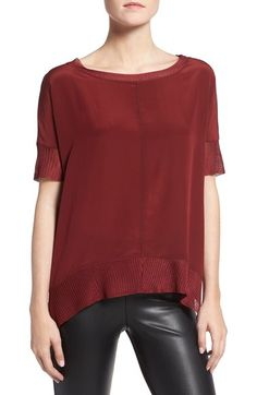 Bailey 44 'Leto' Drape Silk Top available at #Nordstrom