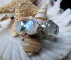 Sterling Silver Rainbow Moonstone Eternity Ring by EverythingIOwn, $60.00