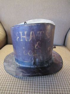 19th Century Tin Top Hat Trade Sign by colonist on Etsy,  Love it!