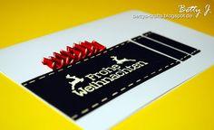 DIY christmas card with simple video tutorial