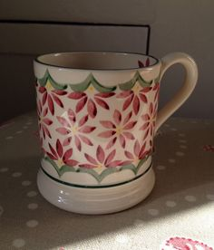 Emma Bridgewater Red Flower 0.5 Pint Mug 1997