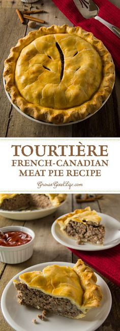 Tourtière, also known as pork pie or meat pie, is a traditional French-Canadian pie served by generations of French-Canadian families throughout Canada and New England. It is made from a combination of ground meat, onions, savory spices, and baked in a traditional piecrust. #meatpie #tourtiere