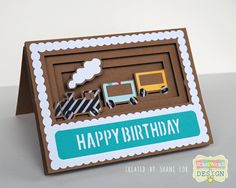Train Shadow Box Card Silhouette Cameo Project