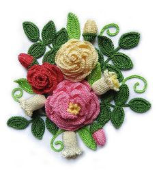 gorgeous crochet flowers