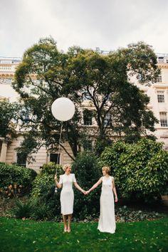 vintage-inspired civil partnership | hannah may photography
