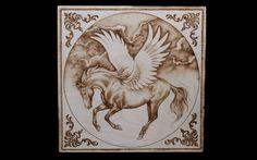 Pyrography Wood Burning Pegasus by SantoArt on Etsy