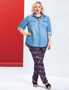 Pantaloni larghi fluidi                                                         blu Taglie forti donna   - Kiabi