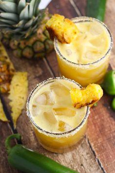 Grilled Pineapple Jalapeno Margarita platingsandpairings.com