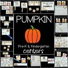 pumpkin centers for Pre-K and Kindergarten