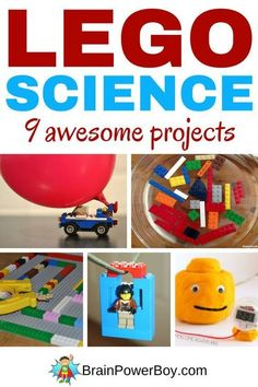 9 totally awesome LEGO Science Projects that get kids learning while they are having a ton of fun. LEGO bridge construction, magnet maze, zip line, flashlight and more. Science Activities for Kids Preschool Science, Science Experiments Kids, Science For Kids, Science Fun, Science Projects For Preschoolers, Science Chart, Summer Science, Lego For Kids, Science Chemistry