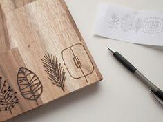 Tutorial fai da te: Come decorare un tagliere con il pirografo via DaWanda.com
