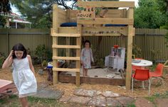 The Bird Bath: tree house made from bunk beds - so cool!