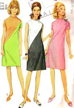 Vintage Sewing Pattern 1960s Simplicity 7075  Mod by paneenjerez, $14.00