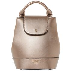 Dune Dieber Mini Backpack , Bronze (€64) ❤ liked on Polyvore featuring bags, backpacks, bronze, brown handle bags, rucksack bags, knapsack bag, mini bag and fake bags