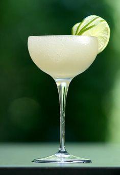 Frozen Daiquiri No. 1 ~ A Crimson Kiss – Timeless Events and Classic Cocktails: Peach Daiquiri, Frozen Daiquiri, Cocktail Glass, Cocktail Drinks, Daiquiri Cocktail, Mojito, Vodka, Peach Syrup, Juice
