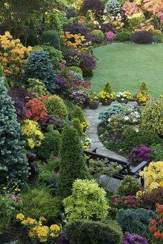Cheap landscaping Ideas - Best ideas for the garden, backyard, patio! - Cheap landscaping Ideas – Best ideas for the garden, backyard, patio! Front Yard Landscaping, Landscaping Ideas, Backyard Patio, Hillside Landscaping, Outdoor Landscaping, Backyard Ideas, Garden Cottage, Dream Garden, Garden Projects