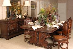 Inessa Stewart's Tablescapes Antique Dining Room Set