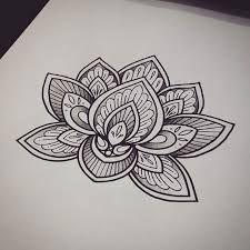 11 best lotus sketch images on pinterest lotus blossom tattoos myndaniurstaa fyrir mehndi lotus flower mightylinksfo