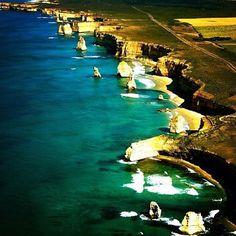 Instagram photo by @larazul     Aerial perspective of Great Ocean Road, VIC