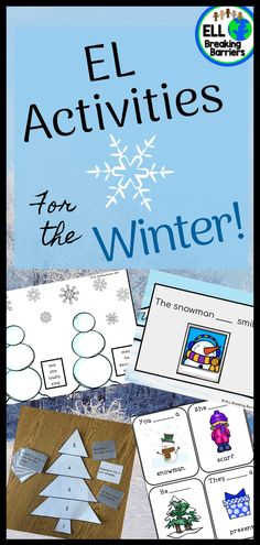 EL Activities for the Winter – ELL Breaking Barriers – art therapy activities Teacher Blogs, Teacher Pay Teachers, Teacher Resources, Art Therapy Activities, Literacy Activities, February Holidays, Winter Holidays, December, Teaching Materials