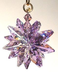 AB and Violet Small Suncluster with Austrian Crystal