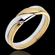 Wedding ring white and yellow gold