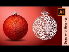 How I Draw Fancy Christmas Balls in Adobe Illustrator - YouTube