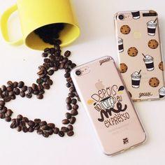 Pra começar a semana com pé direto uma bela xícara de café. {cases: me expresso e cookies}  [FRETE GRÁTIS A PARTIR DE DUAS GOCASES]  #gocasebr #instagood #iphonecase #phonecase #coffee #cookie #goodmorning #usogocase
