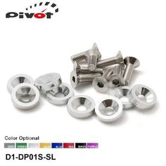 EPMAN - 8PCS/SET JDM Style Fender Washers Bumper Washer Lisence Plate Bolts Kits for CIVIC ACCORD EP-DP01S-D1