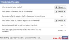 Control what should Appear in your Facebook Timeline