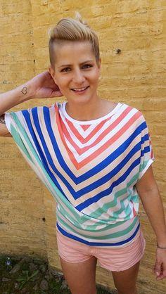 Fledermausärmelshirts - Top Streifen - ein Designerstück von JAQUEEN-handmade-streetwear-berlin bei DaWanda