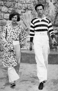 Print of Cecil and Nancy Beaton in Antibes, 1929 Fine Art Prints, Framed Prints, Canvas Prints, Photo Stock Images, Stock Photos, Cecil Beaton, Antibes, Photographic Prints, Wonderful Images