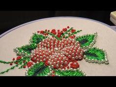 ЦВЕТЫ ПУФЫ с бисером\PUFFED FLOWER With beads - YouTube